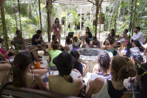 conferencia en Vegan Fest Tulum