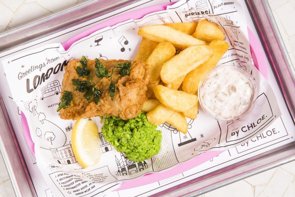 fish and chips vegan by chloe