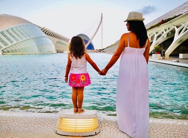Ciudad de las artes y las ciencias de Valencia con niños