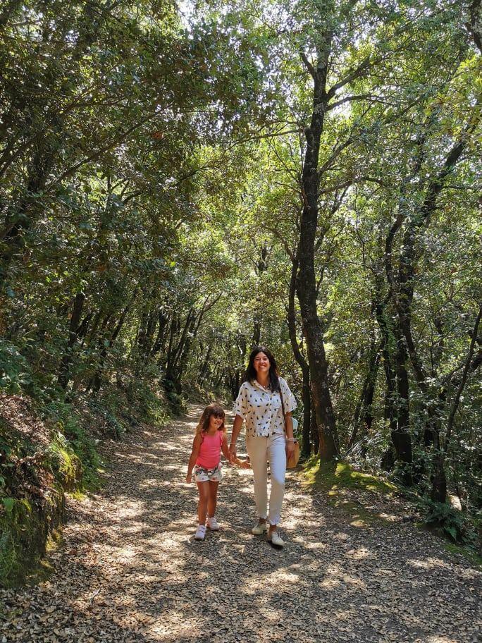 Trekking con niños en La Garrotxa