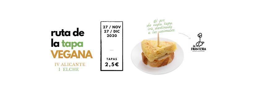 Ruta tapa vegana Alicante y Elche